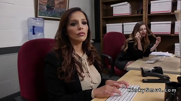 Slave, Anal fisting, Office anal, Brunette anal